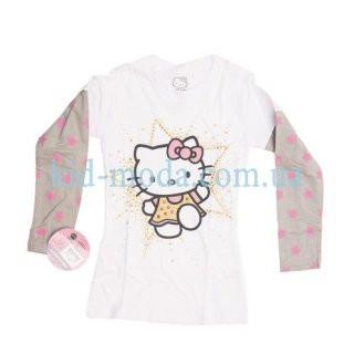 Реглан Hello Kitty с контрастным рукавом