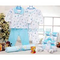 """Набор для новорожденных """"Мишки"""" lux (16 предметов), фото 1"""