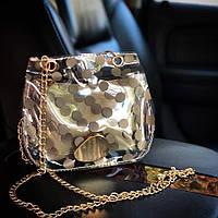 Прозрачная силиконовая сумка кросс-боди в горошек, фото 1