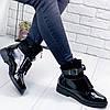 Ботинки женские Annie демисезонные черные эко - лак + эко - замша )), фото 3