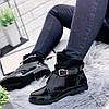 Ботинки женские Annie демисезонные черные эко - лак + эко - замша )), фото 6