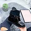 Ботинки женские Annie демисезонные черные эко - лак + эко - замша )), фото 7