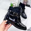 Ботинки женские Annie демисезонные черные эко - лак + эко - замша )), фото 9