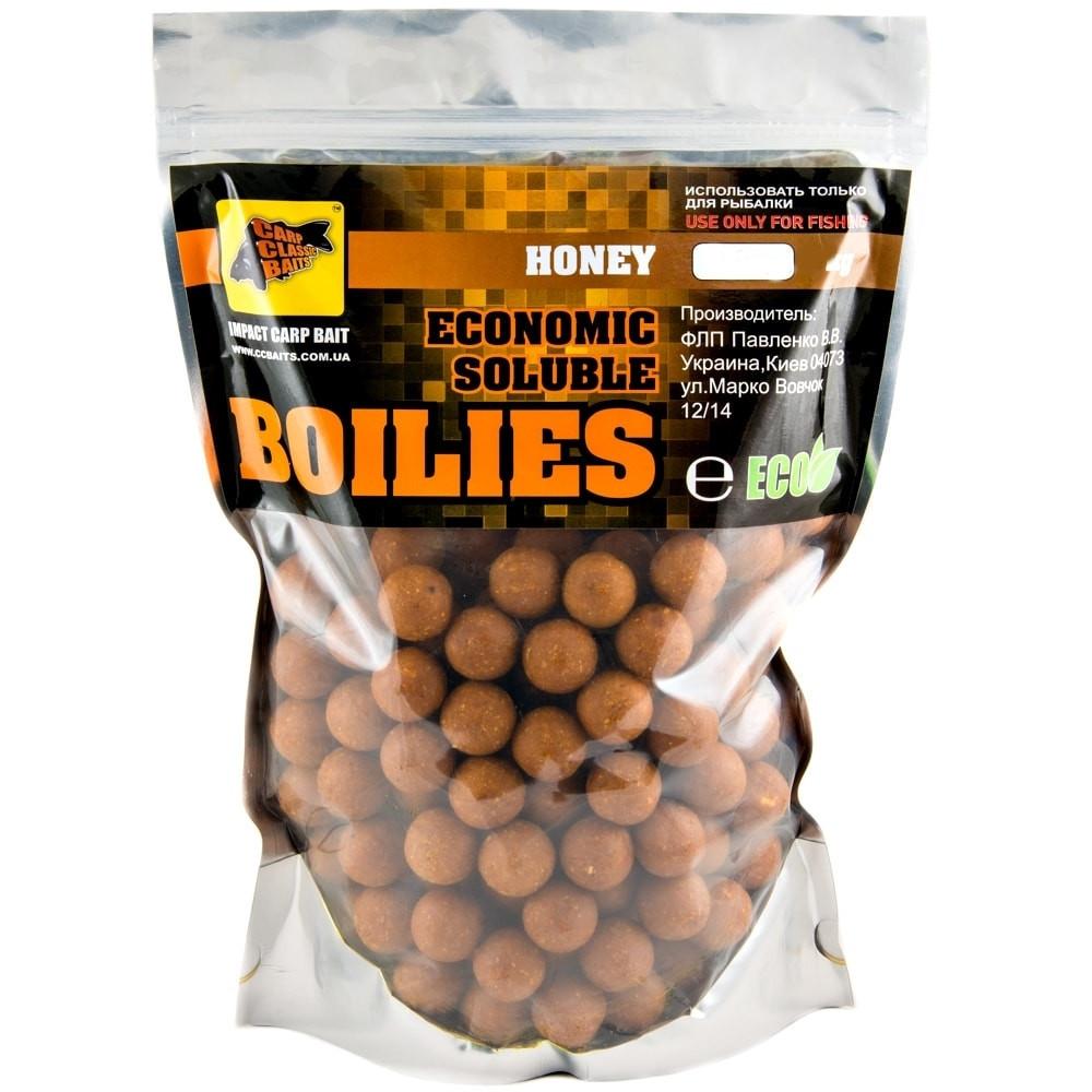 Бойлы CCB пылящие Economic Soluble Honey, 20мм,1кг