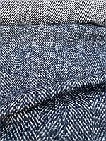 Шерстяная пальтовая глянцевая ткань в ёлочку, фото 1