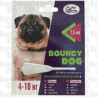 """Капли от блох и клещей для собак весом до 4-10кг. """"Bouncy Dog"""" (1,5мл.)"""