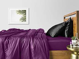 Комплект семейного постельного белья сатин VIOLET BLACK-P