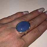 Кольцо овал халцедон в серебре. Кольцо с халцедоном 17.5 размер Индия, фото 3