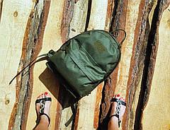 Городской рюкзак 20 литров  OUTDOOR для детей и подростков олива, фото 3