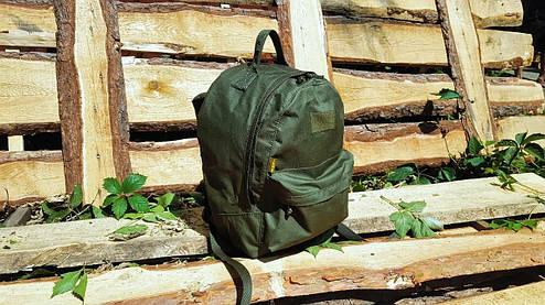 Городской рюкзак 20 литров  OUTDOOR для детей и подростков олива, фото 2