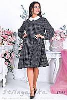 Большое черное платье в горох, фото 1