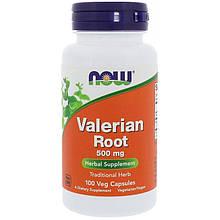 "Корень валерианы NOW Foods ""Valerian Root"" 500 мг (100 капсул)"