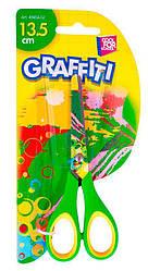 Ножницы Graffiti Cool For School, 13,5 см, зеленые
