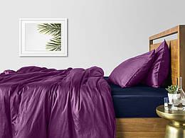 Комплект семейного постельного белья сатин VIOLET BLUE-S
