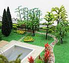 Коврики, имитация травы для макетов 25х25 см, темно-зеленый, фото 10