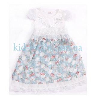 Платье с кружевными оборками