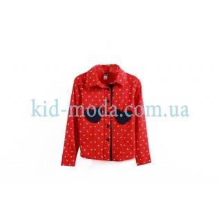 Рубашка в горошек для девочки