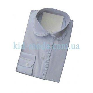 Рубашка с кружевным воротником и длинным рукавом