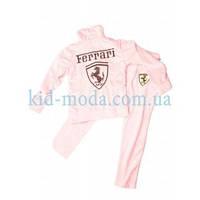 Костюм спортивный велюровый Ferrari (кофта, штаны), фото 1