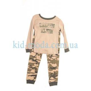Костюм спортивный Calvin klein в стиле хаки (штаны, кофта)