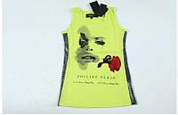 "Майка ""Philipp Plein"" с Lana Del Rey, желтый цвет, фото 1"