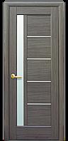 Межкомнатное  полотно Грета grey (серое) 800 мм со стеклом сатин, ПВХ.