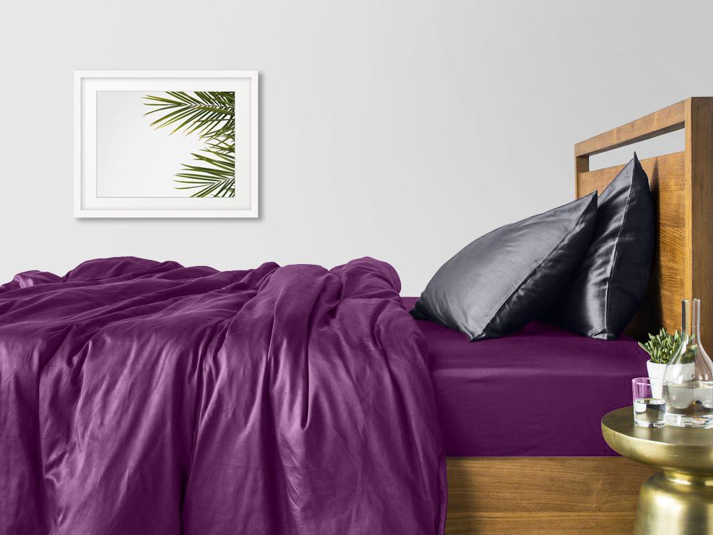 Комплект сімейного постільної білизни сатин VIOLET GREY-P