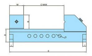 Прецизійні лещата QKG 125 | Лещата верстатні лекальні Bernardo, фото 2