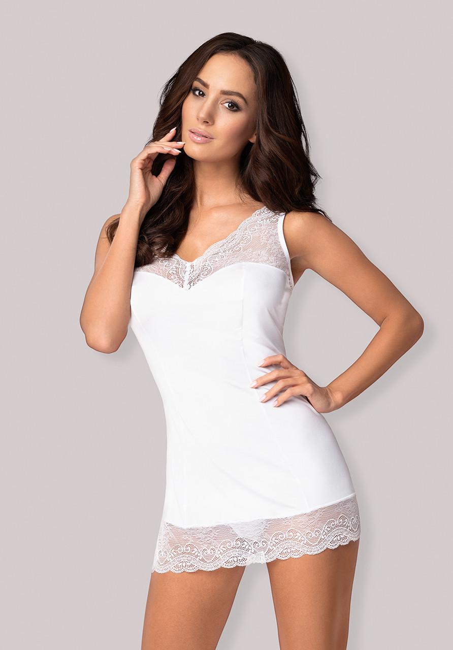 Белая сорочка Miamor chemise Obsessive