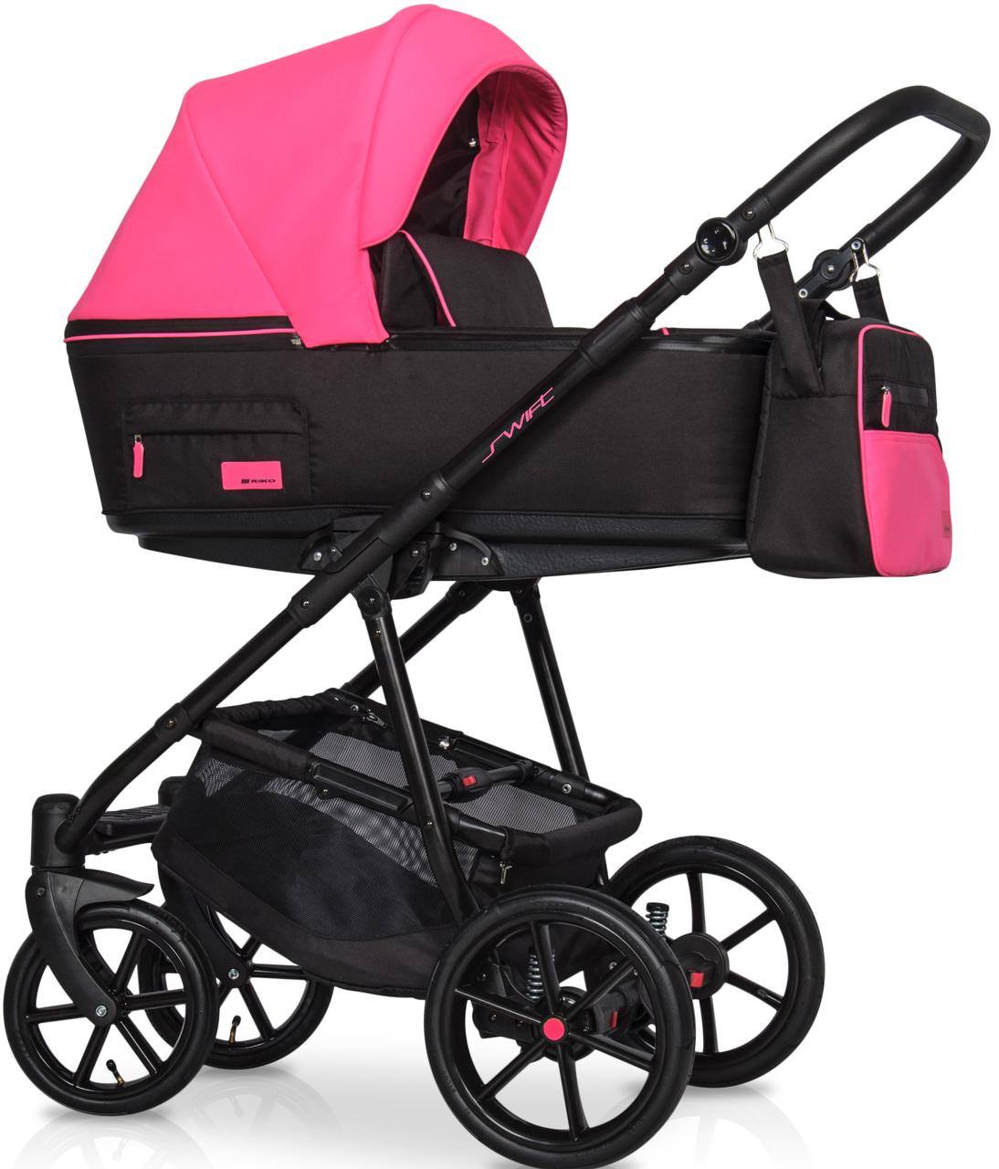 Детская универсальная коляска 2 в 1 Riko Swift 22 Electric Pink