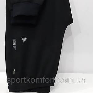 Чоловічі спортивні трикотажні штани на манжеті внизу, чорні, 70 бавовна, Туреччина, Soccer, великі розміри.