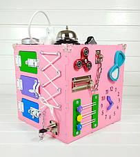 Развивающая игрушка бизикуб Busy Cube Tornado Розовая, фото 3