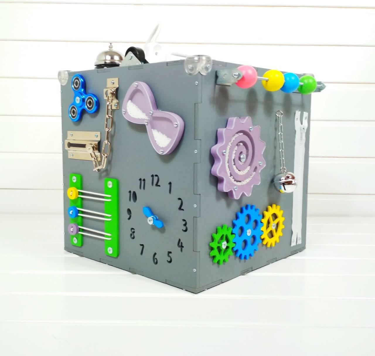 Развивающая игрушка бизикуб Busy Cube Tornado Серая