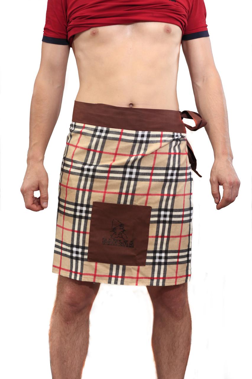 Мужское парео с карманом для бани , сауны.