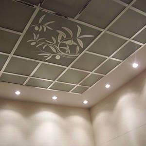 Потолки подвесные кассетные
