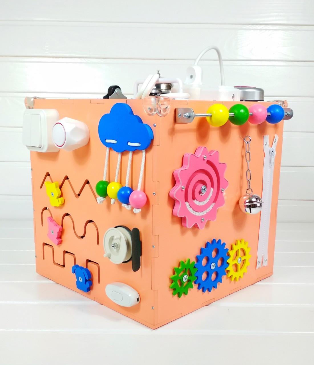 Развивающая игрушка бизикуб Busy Cube Tornado Оранжевая