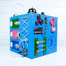 Развивающая игрушка бизикуб Busy Cube Tornado Голубая, фото 2