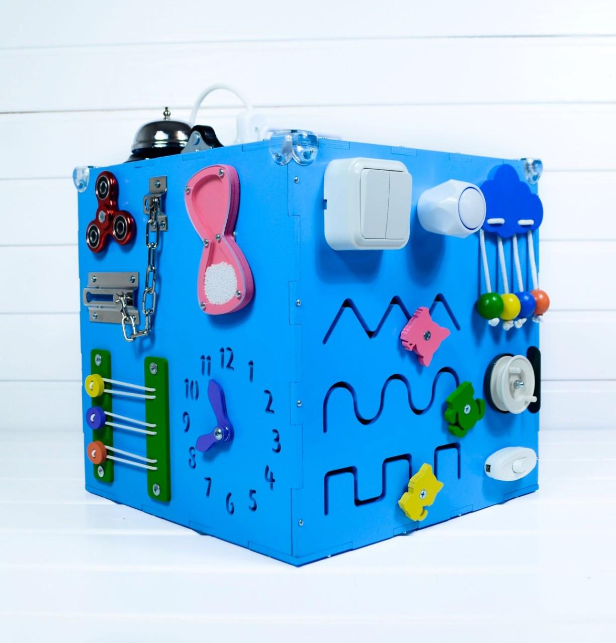 Развивающая игрушка бизикуб Busy Cube Tornado Голубая