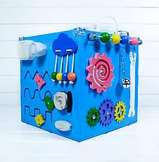 Развивающая игрушка бизикуб Busy Cube Tornado Голубая, фото 3