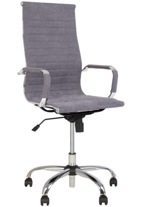 Крісло офісне Slim HB механізм Tilt хрестовина CHR68, тканина Soro-93 (Новий Стиль ТМ)