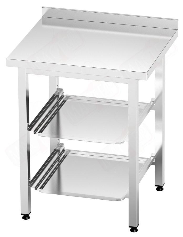 Стол для хранения корзин (кассет) посудомоечной машины ВМ 2-2две полки 700х600х850