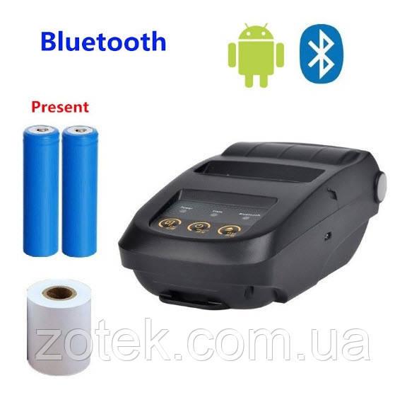 Портативный Android-Bluetooth USB принтер чеков этикеток P5800 (58 мм) 18650 акб
