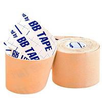 Кинезио тейп спортивный Sports Therapy Kinesiology Tape, 5 см х 5 м (бежевый), фото 1