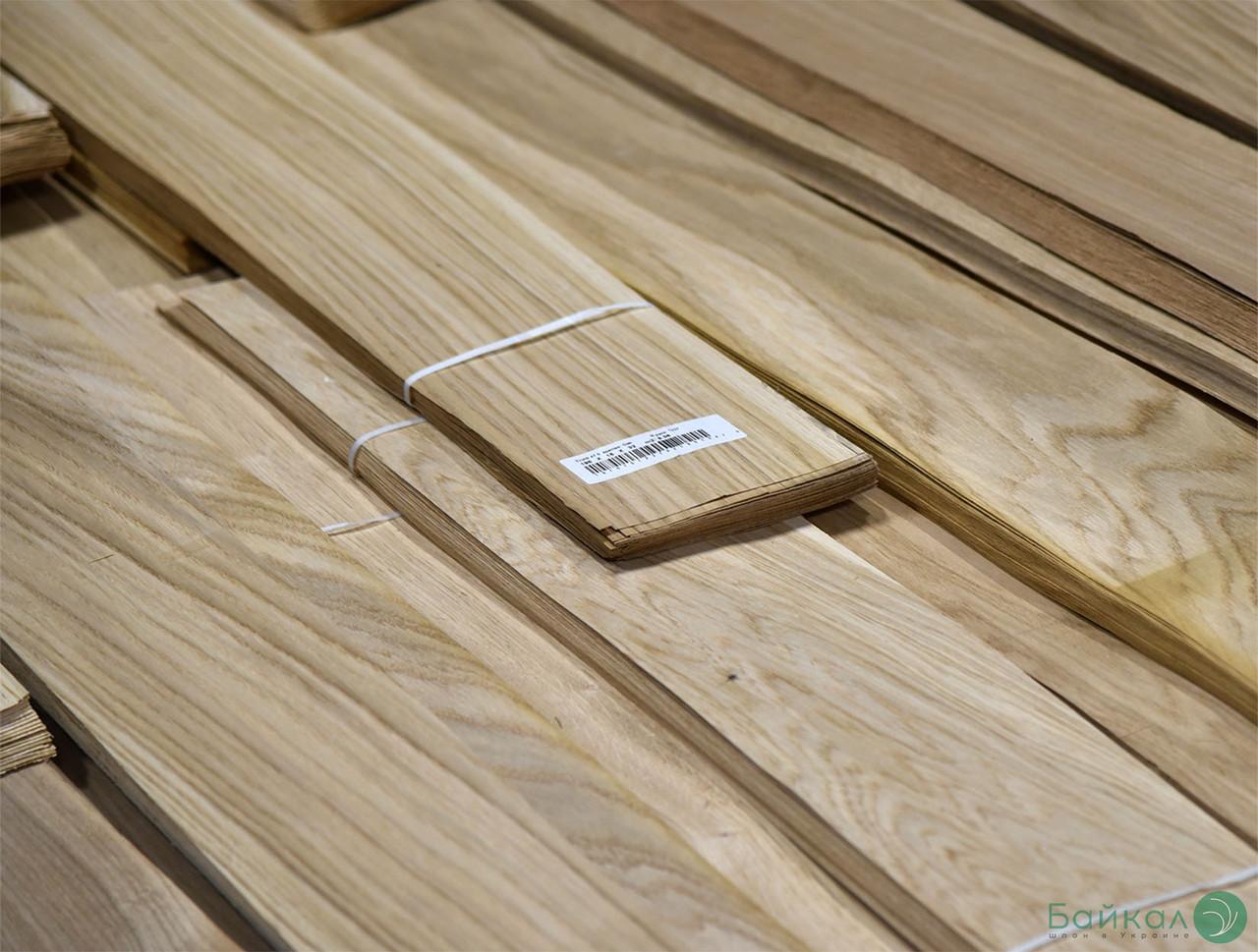 Шпон Дуба - 1,5 мм длина от 0,80 - 2,05 м / ширина от 10 см (I сорт)
