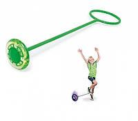 💥Нейроскакалка 3 в 1, скакалка на одну ногу, Зеленая 1➕1=3❗ 🔥