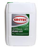 Антифриз Sintec EURO G11, (-40),  10л, зел