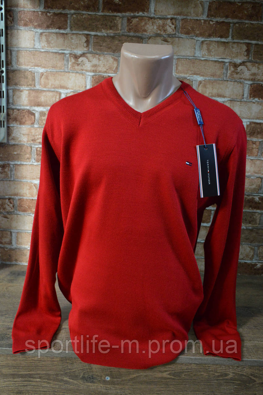 6008-Tommy Hilfiger мужской гольф/Красный.