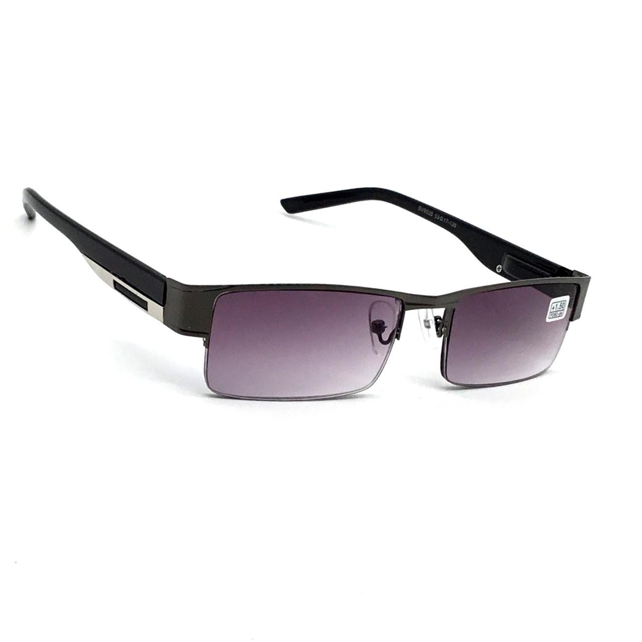 Полуоправные очки с тонированной линзой 9035