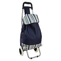 Дорожная сумка, Цвет - синий, сумка на колесах в полоску, Хозяйственные сумки и тележки