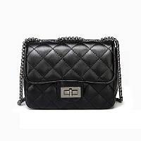 Женская стеганная черная сумка из экокожи опт, фото 1